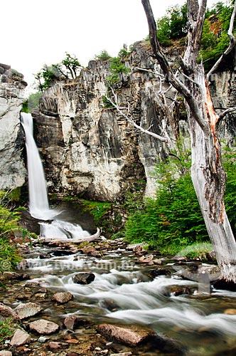 Assunto: Cachoeira Chorrillo del Salto no Parque Nacional Los Glaciares na cidade El Chalten - O parque foi declarado Patrimônio da Humanidade pela UNESCO em 1981 / Local: Patagônia - Argentina - América do Sul / Data: 02/2010