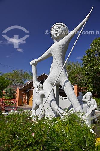 Assunto: Cabeça de Cuia - Personagem do folclore local  localizado no  Parque Ambiental Encontro dos Rios / Local: Teresina - Piauí (PI) - Brasil / Data: 11/2010