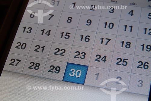 Assunto: Calendário digital - dia 30 / Local: Estúdio / Data: 07/2011