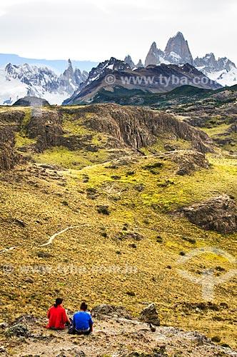Assunto: Vista do Mirante dos Condores para o Monte Torre e Monte Fitz Roy  / Local: El Chalten - Província de Santa Cruz - Argentina - América do Sul / Data: 02/2010