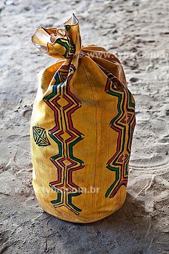 Assunto: Projeto Encauchados Vegetais, saco-mochila artesanal / Local: Rio Branco - Acre (AC) - Brasil / Data: 11/2011