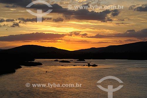Assunto: Por do sol no Rio Jequitinhonha / Local: Itinga - Minas Gerais (MG) - Brasil / Data: 11/2011
