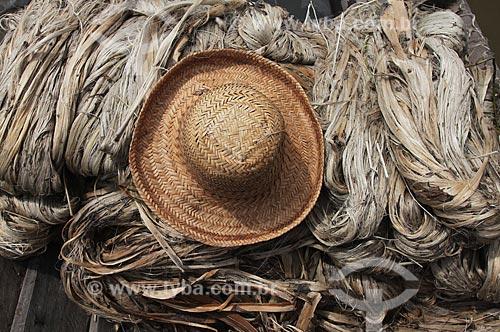 Assunto: Juta e chapéu de palha / Local: Manacapuru - Amazonas (AM) - Brasil / Data: 01/2012