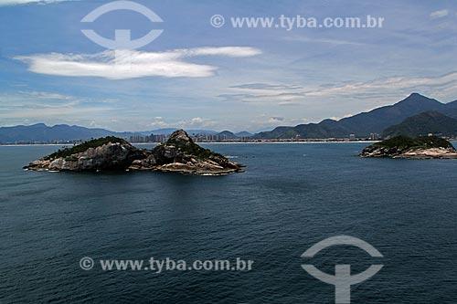 Assunto: Ilha Pontuda com Barra da Tijuca ao fundo / Local: Barra da Tijuca - Rio de Janeiro (RJ) - Brasil / Data: 01/2012