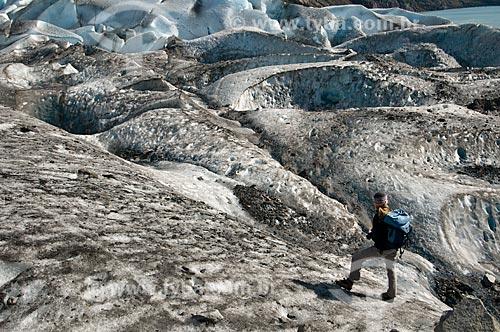Assunto: Alpinista no Glaciar Viedma / Local: El Chalten - Província de Santa Cruz - Argentina - América do Sul / Data: 02/2010