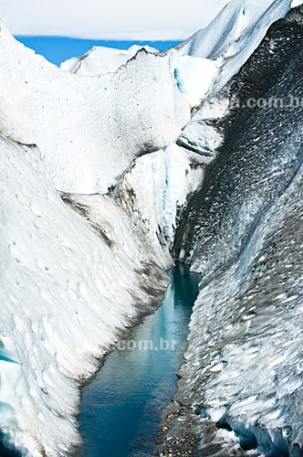 Assunto: Fenda no Glaciar Viedma / Local: El Chalten - Província de Santa Cruz - Argentina - América do Sul / Data: 02/2010