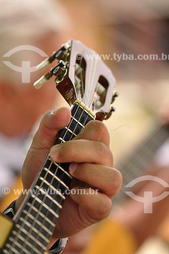 Assunto: Detalhe de mão tocando Cavaquinho / Local: Porto Velho - Rondônia (RO) - Brasil / Data: 11/2010