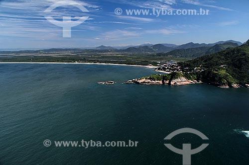 Assunto: Vista de Barra de Guaratiba com Restinga de Marambaia do lado esquerdo / Local: Guaratiba - Rio de Janeiro (RJ) - Brasil / Data: 01/2012