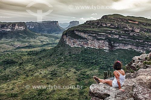 Assunto: Vista à partir do morro Pai Inácio na Chapada Diamantina / Local: Palmeiras - Bahia (BA) - Brasil / Data: 01/2012