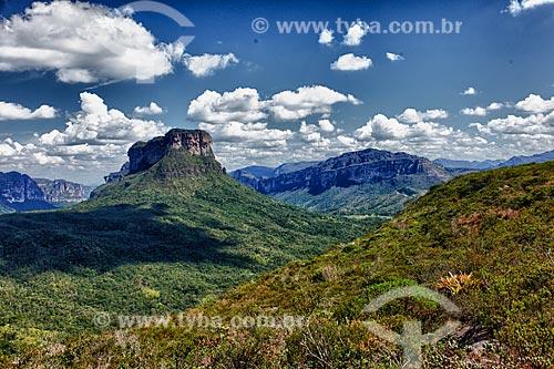 Assunto: Vista da Chapada Diamantina na trilha Capão-Guiné / Local: Bahia (BA) - Brasil / Data: 01/2012