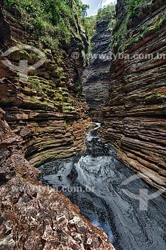 Assunto: Cânion de acesso à Cachoeira do Buracão / Local: Ibicoara - Bahia (BA) - Brasil / Data: 01/2012