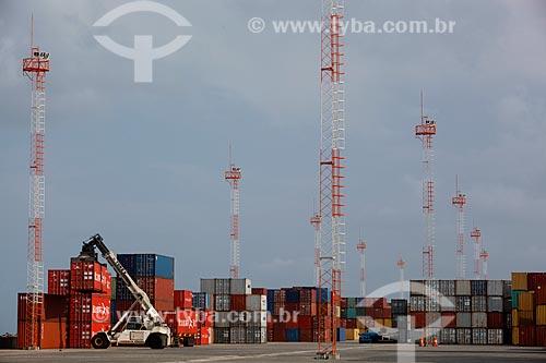 Assunto: Contêiners no Terminal Portuário do Pecém / Local: São Gonçalo do Amarante - Ceará (CE) - Brasil / Data: 02/2012