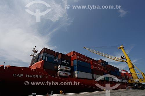 Assunto: Navio no Terminal Portuário do Pecém / Local: São Gonçalo do Amarante - Ceará (CE) - Brasil / Data: 02/2012
