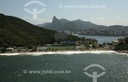 Assunto: Vista aérea da Escola de Educação Física do Exército com Enseada de Botafogo ao fundo / Local: Urca - Rio de Janeiro (RJ) - Brasil / Data: 09/2011