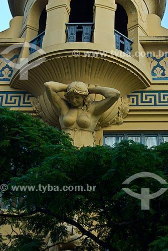 Assunto: Escultura da Casa Egípcia - Palacete Varejão na Rua dos Andradas - antiga Rua da Praia / Local: Porto Alegre - Rio Grande do Sul (RS) - Brasil / Data: 12/2011