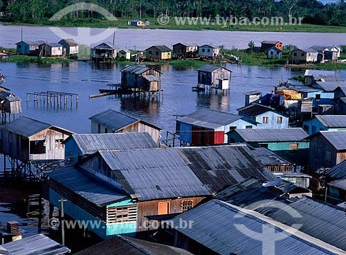 Assunto: Vista aérea de palafitas / Local: Cruzeiro do Sul - Acre (AC) - Brasil  / Data: 2004