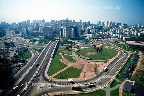 Assunto: Vista aérea do Viaduto dos Açorianos / Local: Porto Alegre - Rio Grande do Sul (RS) - Brasil / Data: 05/1998