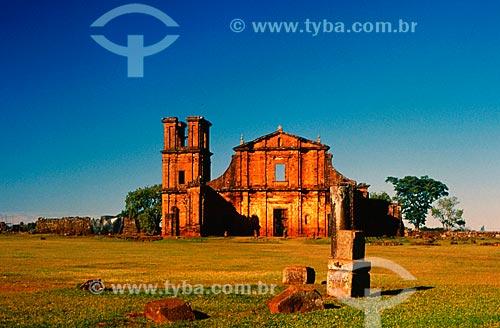 Assunto: Igreja de São Miguel - Ruínas de São Miguel das Missões / Local: Santo Ângelo - Rio Grande do Sul (RS) - Brasil / Data: 01/2006