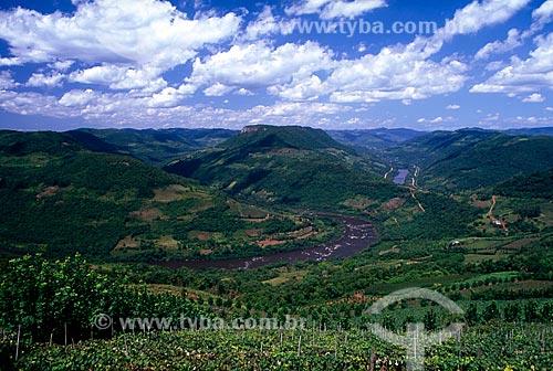 Assunto: Vista do Mirante da Ferradura no Vale do Rio das Antas / Local: Bento Gonçalves - Rio Grande do Sul (RS) - Brasil / Data: 04/2010