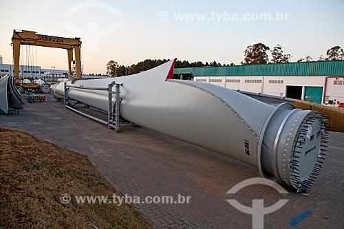 Assunto: Fábrica Wobben Windpower / Enercon - Patio com Pás E-70  / Local: Sorocaba - São Paulo (SP) - Brasil  / Data: 09/2011