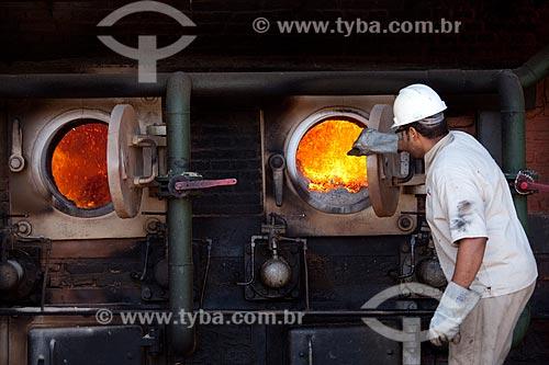 Assunto: Caldeira da Usina de Cogeração (açúcar, etanol e energia elétrica) da empresa Guarani  / Local: Olímpia - São Paulo (SP) - Brasil  / Data: 09/2011