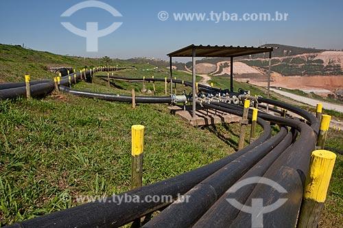Assunto: Estação coletora de poços de Biogás no Aterro Sanitário Sítio São João / Local: São Paulo - São Paulo (SP) - Brasil  / Data: 09/2011