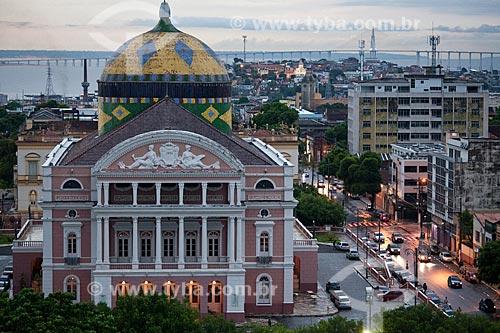 Assunto: Vista do Teatro Amazonas com o Rio Negro ao fundo  / Local: Manaus - Amazonas (AM) - Brasil / Data: 10/2011