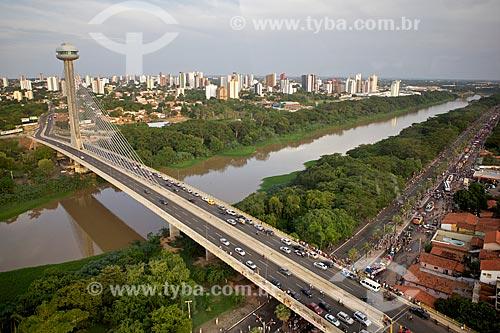 Assunto: Ponte Estaiada Mestre João Isidoro França sobre o Rio poti / Local: Teresina - Piauí (PI) - Brasil / Data: 02/2012