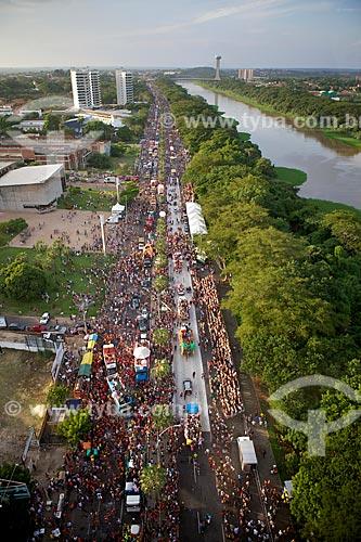 Assunto: Desfile de Corso Carnavalesco com Rio Poti no lado direito - Maior Corso do mundo / Local: Teresina - Piauí (PI) - Brasil / Data: 02/2012