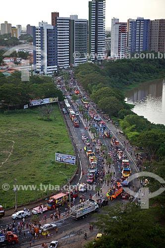 Assunto: Desfile de Corso Carnavalesco - Maior Corso do mundo / Local: Teresina - Piauí (PI) - Brasil / Data: 02/2012