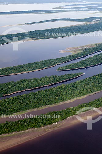 Assunto: Vista aérea do arquipélago fluvial de Anavilhanas no Rio Negro  / Local: Amazonas (AM) - Brasil / Data: 10/2011