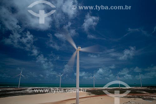 Assunto: Turbinas eólicas do Parque Eólico Aracati - Empresa Bons Ventos Geradora de Energia / Local: Aracati - Ceará (CE) - Brasil  / Data: 10/2011
