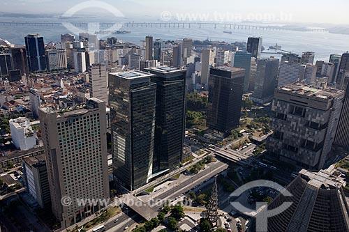 Assunto: Vista aérea da Avenida Chile / Local: Centro - Rio de Janeiro (RJ) - Brasil / Data: 03/2012