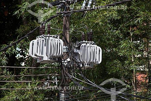 Assunto: Transformador de energia na Rua Marquês de São Vicente / Local: Gávea - Rio de Janeiro (RJ) - Brasil / Data: 01/2012