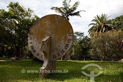 Assunto: Relógio de Sol na Praça Coronel Pedro Osório / Local: Pelotas - Rio Grande do Sul (RS) - Brasil / Data: 02/2012