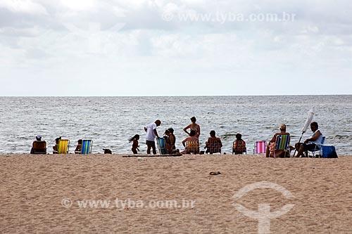 Assunto: Turistas na Praia do Laranjal - Lagoa dos Patos / Local: Pelotas - Rio Grande do Sul (RS) - Brasil / Data: 02/2012