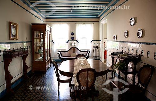 Assunto: Sala de Jantar do Museu da Baronesa - Solar da Baronesa (1863) - Abrigou a família de Aníbal e Amélia Hartley Antunes Maciel / Local: Pelotas - Rio Grande do Sul (RS) - Brasil / Data: 02/2012