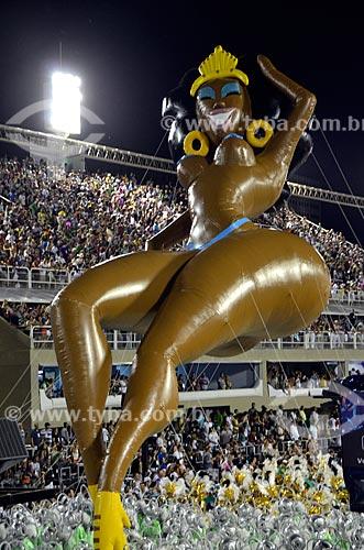 Assunto: Desfile da Escola de Samba São Clemente - - Mulata inflável gigante - Enredo 2012 - Uma aventura musical na Sapucaí / Local: Rio de Janeiro (RJ) - Brasil / Data: 02/2012