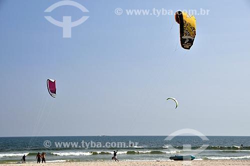 Assunto: Kitesurf na Praia da Barra da Tijuca  / Local: Barra da Tijuca - Rio de Janeiro (RJ) - Brasil / Data: 11/2011