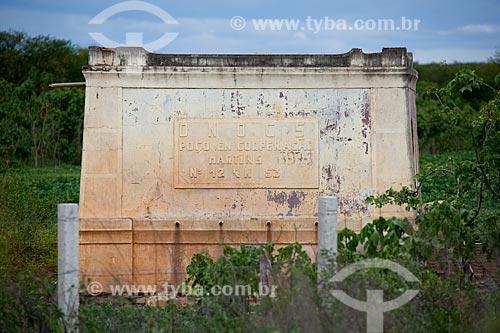 Assunto: Poço construído pelo Departamento Nacional de Obras Contra a Seca no interior potiguar  / Local: Mossoró - Rio Grande do Norte (RN) - Brasil / Data: 03/2012