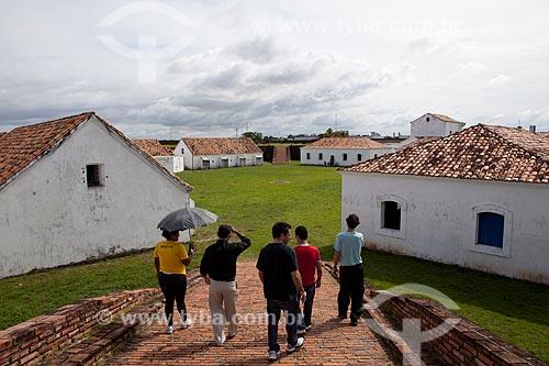 Assunto: Turistas na Fortaleza de São José de Macapá (1782)Data: 04 / Local: Macapá - Amapá (AP) - Brasil / Data: 04/2012
