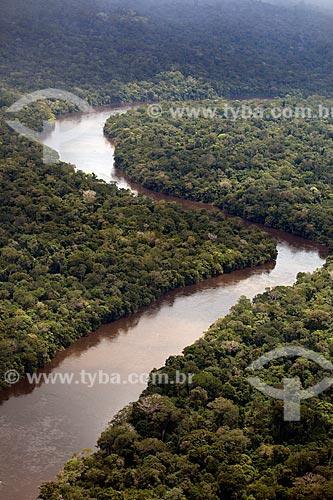 Assunto: Vista aérea do Rio Mutum - Divisa do Parque Nacional Montanhas do Tumucumaque / Local: Amapá (AP) - Brasil / Data: 04/2012