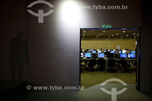 Assunto: Sala de Imprensa no Riocentro durante a conferência Rio+20 / Local: Jacarepaguá - Rio de Janeiro (RJ) - Brasil / Data: 06/2012