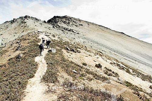 Assunto: Montanhistas subindo a trilha para o Pico Pan de Azúcar / Local: Mérida - Mérida - Venezuela - América do Sul / Data: 05/2012