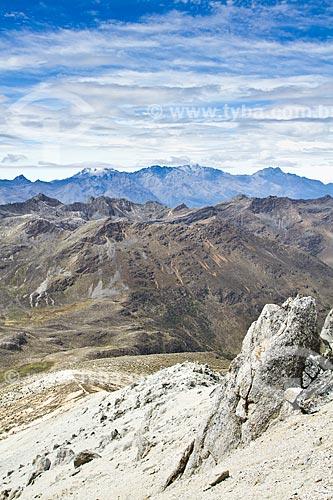 Assunto: Vista do cume do Pico Pan de Azúcar com Sierra Nevada ao fundo / Local: Mérida - Mérida - Venezuela - América do Sul / Data: 05/2012