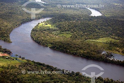 Assunto: Vista aérea do Rio Araguari / Local: Amapá (AP) - Brasil / Data: 04/2012