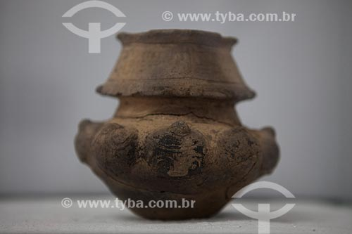 Assunto: Museu Sacaca - Urna funerária antropomorfa - Laranjal do Jari / Local: Macapá - Amapá (AP) - Brasil / Data: 04/2012