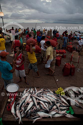 Assunto: Venda de peixe no mercado da Rampa de Santa Inês (Rampa do Açaí) / Local: Macapá - Amapá (AP) - Brasil / Data: 04/2012