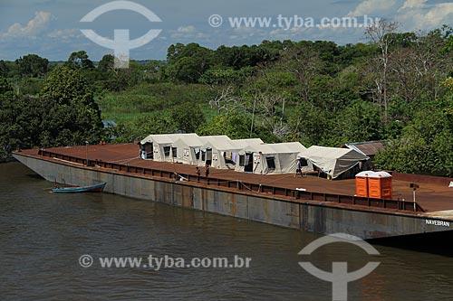 Assunto: Barracas da Defesa Civil para desabrigados da cheia do Rio Amazonas / Local: Manaus - Amazonas (AM) - Brasil / Data: 07/2012