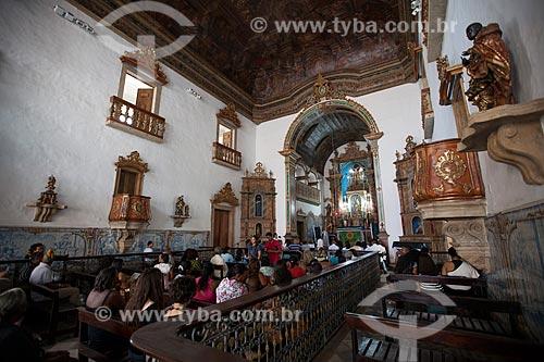 Interior da Igreja de Nossa Senhora do Rosário dos Pretos (séc. XVIII) - também conhecida como Igreja do Rosário da Baixa dos Sapateiros ou Igreja de Nossa Senhora do Rosário das Portas do Carmo  - Salvador - Bahia - Brasil
